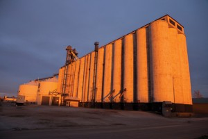 Before Image of East Grain Elevators